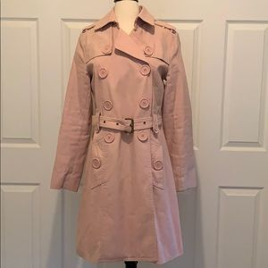 Mark Jacobs Belted Trench Coat Blush Color